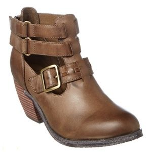 NWT Antelope khaki leather booties size 41